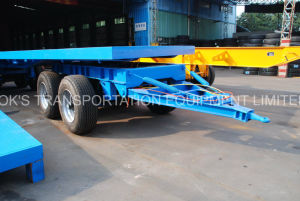 4axles Flatbed Full Cargo Trailer pictures & photos