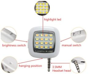Phone Flash Mini Portable 16LED Camera Spotlight Smartphone LED Flash Light for Android Devices External pictures & photos