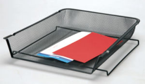 Black Desk Accessories/ Metal Mesh Stationery File Tray/ Office Desk Accessories pictures & photos