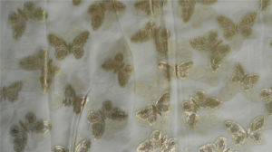 Jacquard Silk Lurex Crinkle Ggt Silk Fabric pictures & photos