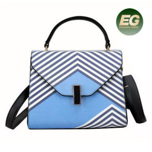 Hot Fashion Stripe Satchel Bags Designer Handbag Contrast Color Shoudler Bag China Supplier Sy8398 pictures & photos