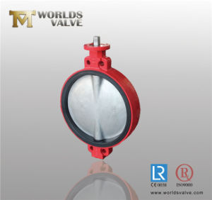 Double D Stem Head Concentric Rubber Seat Wafer Butterfly Valve pictures & photos