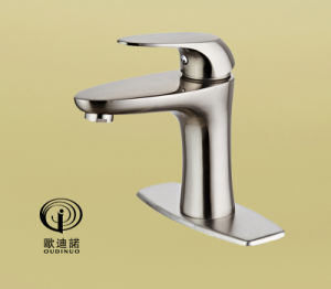 New Style Single Lever Basin Faucet with Brush Plated 701011 pictures & photos