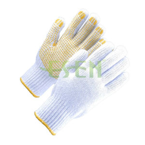 2017 Hot Selling Cotton Knitting Gloves PVC Dots, Quality and Cheap, Manufacture in China pictures & photos