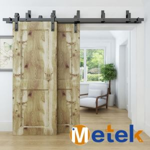 High Quality Wood Screen Doors Bypass Track System pictures & photos