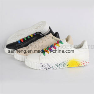 Fashion Women Colorful Paints Shoes / Leisure Footwear (SNC-76001) pictures & photos