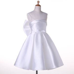Satin Flower Girl Dress for Special Occasion pictures & photos