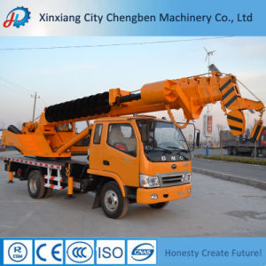 T-King Truck Mobile Hydraulic Boom Crane with Drill in Dubai pictures & photos