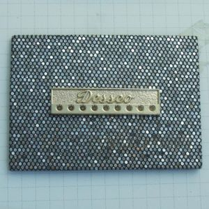 Custom Made Rhinetsone PU Tags Labels for Jeans pictures & photos