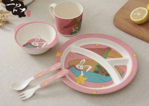 BPA Free Eco Bamboo Fiber Kitchenware Kids Dinner Set (YK-KS007) pictures & photos