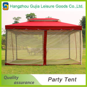 High Quality Durable Windproof Double Roof Red Garden Tent