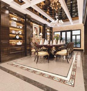 Popular New Design Golden Yellow Inkjet Polished Porcelain Tile pictures & photos