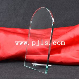Arc Crystal Glass Trophy Award with Pin Standing pictures & photos