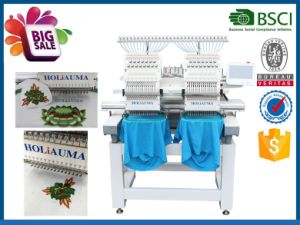 1502 Best 2017 Tajima Type Double Head Computer Embroidery Machine Commercial for Hat T-Shirt pictures & photos