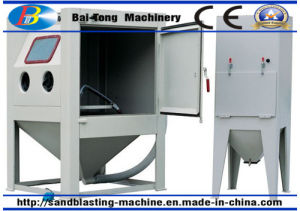 Manual Fixed Turntable Type Sandblasting Machine Cabinet for Mould Cleaning pictures & photos
