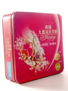 Christmas Heart Metal Cookie Candy Gift Can Tin Box pictures & photos