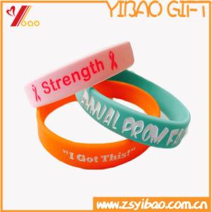 Custom Logo and Size Soprt Silicon Wristband/Bracelet pictures & photos