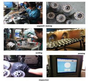 High Quality Single Row Diamond Grinding Cup Wheel (HCPS) pictures & photos