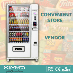 9 Columns Soft Drinks Vending Machine Operated by Coin and Bill pictures & photos