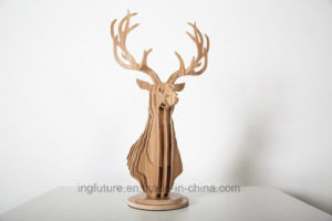 Original Design Wooden Crafts Home Decor Ash Deer Head Decoration pictures & photos