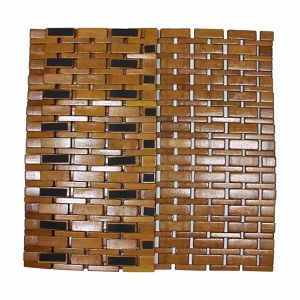 Natural Bamboo Block Bath Mat for Bathroom & Flooring pictures & photos