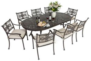 Outdoor/Patio/Cast Aluminum Dining Set pictures & photos
