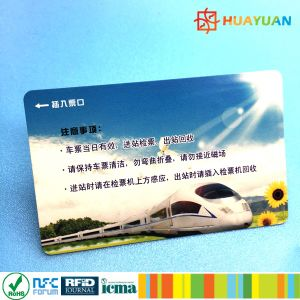 13.56MHz Infineon SLE66R01L HF RFID paper Transportation card pictures & photos
