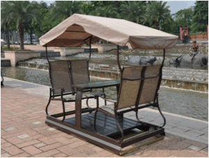 Recreational 4-Seats Half Aluminium Half Iron Outdoor Swing pictures & photos