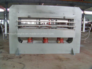 China Linyi 160 Tons 3 Layers Plywood Wood Working Hot Press Machine pictures & photos