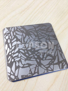 Etched Finish Stainless Steel Plate 304