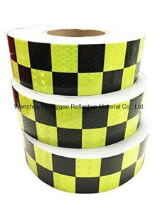 Green/White Grid Design Reflective Conspicuity Tape (C3500-G) pictures & photos