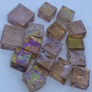 Pearl Pink Glass Cube Mosaic pictures & photos