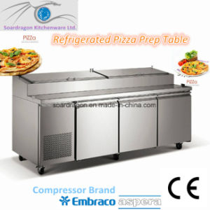 Stainless Steel Refrigerated Pizza Prep Table pictures & photos