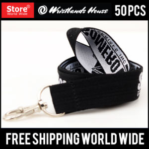 Custom Cheap Woven Lanyards pictures & photos