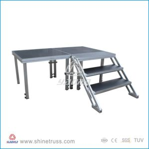 Aluminum Adjustable Stage with Steps pictures & photos