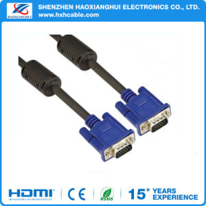 Factory Supply 1.5m Double Ring 3+4 VGA Cable for Computer pictures & photos