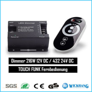 DC 12V 24V LED Touch Controller 1 Channel RF Wireless 25A 300W LED Dimmer Control pictures & photos