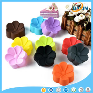 Flower Shape Horse Fern Cup Silicone Cake Mold pictures & photos