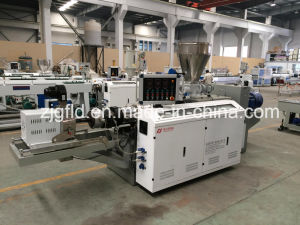 Conical Double Screw Plastic Extruding Machine pictures & photos