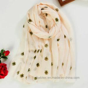 Thin Slun Cotton Printed Fashion Scarf (HWBC036) pictures & photos