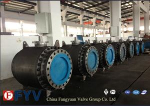 Gear Cast Steel Fully Welded Ball Valve pictures & photos