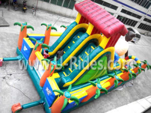 High Quality Gorilla Theme Inflatable Slide With Playground Fun City For Park pictures & photos