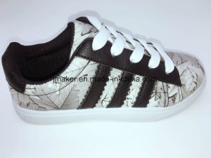 2017 The Latest Style Gradient Women Kid PU Injection Casual Shoes pictures & photos