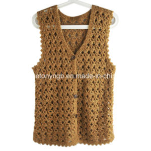 Hand Crochet Vest-01 Knitting Loom pictures & photos