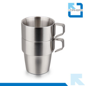 4 Pieces 300ml Stainless Steel Coffee Cup with Holder Tea Mug Cup Sets pictures & photos