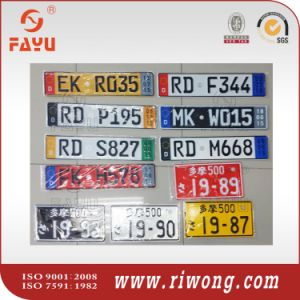 Customized Aluminum Number Plate pictures & photos