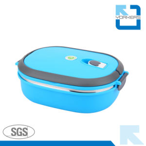 Lockable Stainless Steel Lunchbox with Food Grade Plastic Lid pictures & photos