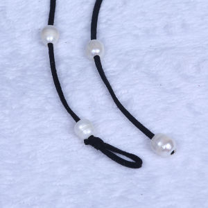 Popular Handmade Freshwater Pearl Leather Choker Necklace pictures & photos