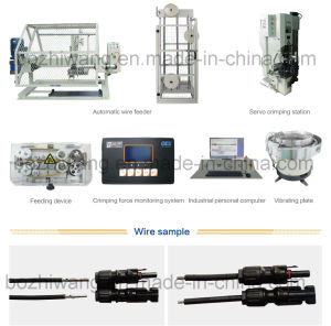 PV Wire Connector Inserting, Nut Tightening and Terminal Crimping Machine pictures & photos