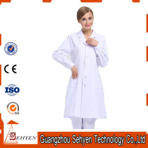 100% Cotton White Lab Coat Women′s Medical Lab Coat pictures & photos